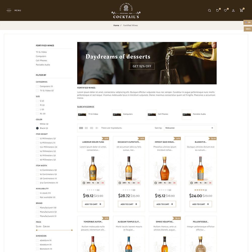 theme - Bebidas y Tabaco - Cocktail - Wine – Alcohol Cigarettes Drink Store - 5