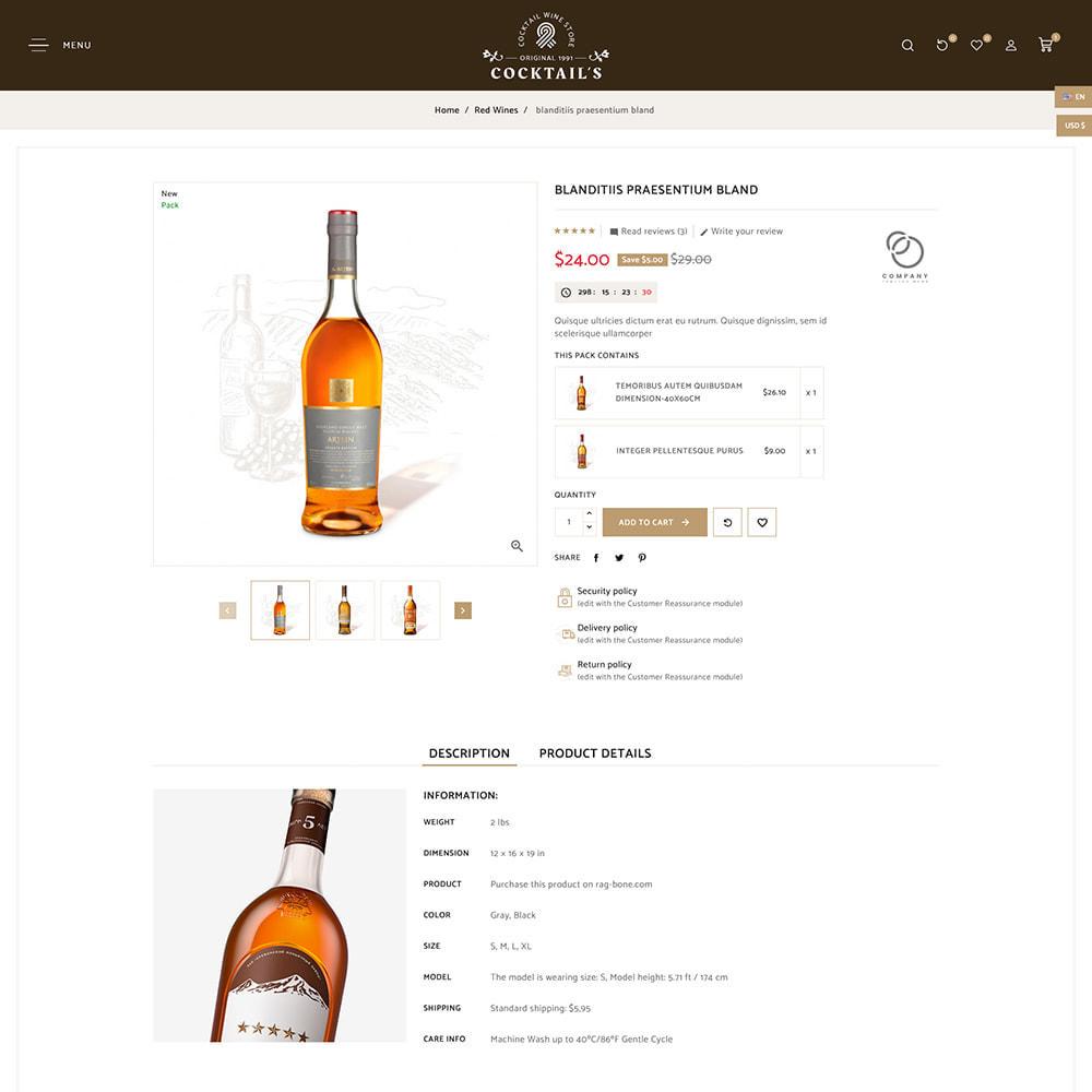 theme - Bebidas y Tabaco - Cocktail - Wine – Alcohol Cigarettes Drink Store - 8