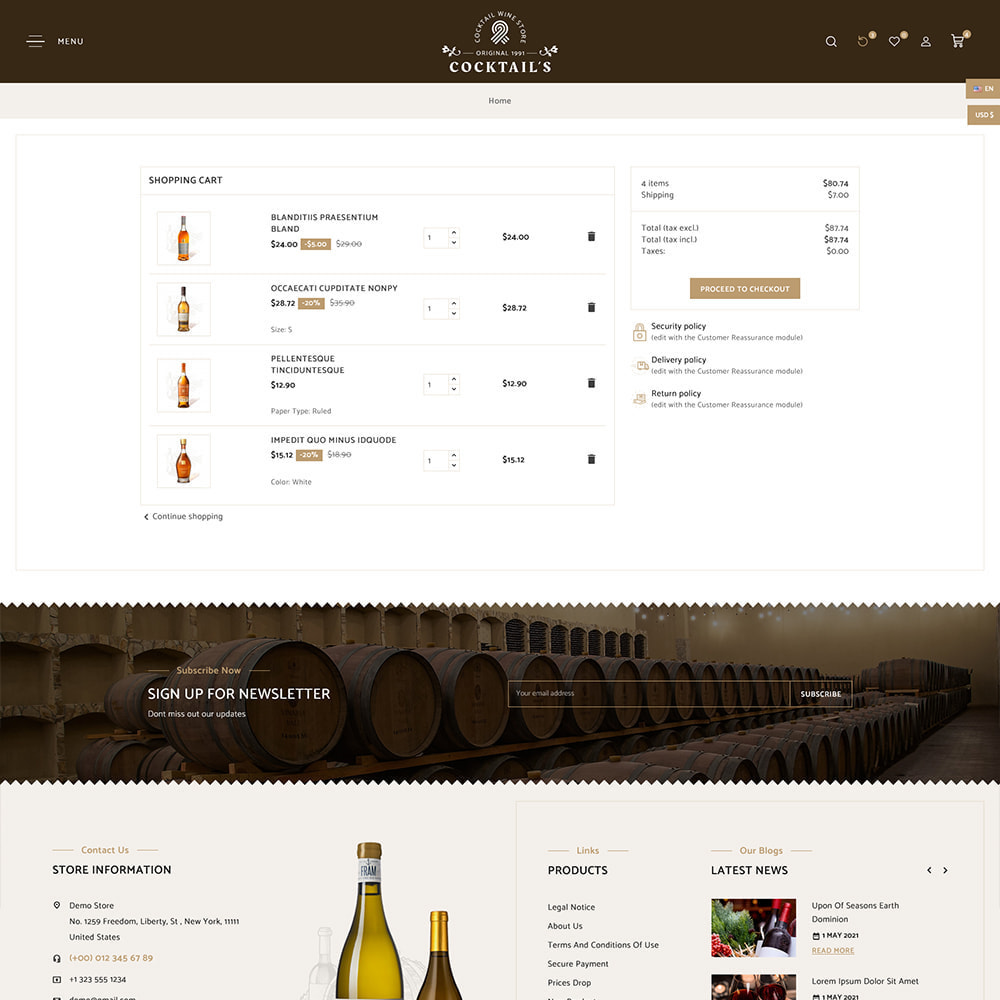 theme - Bebidas y Tabaco - Cocktail - Wine – Alcohol Cigarettes Drink Store - 10