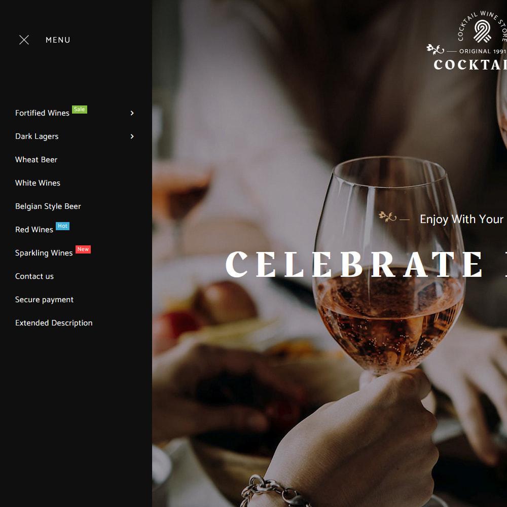 theme - Bebidas y Tabaco - Cocktail - Wine – Alcohol Cigarettes Drink Store - 12