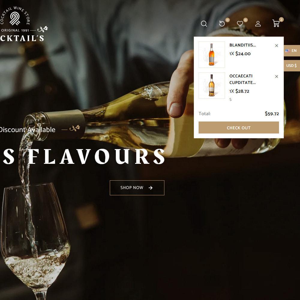 theme - Bebidas y Tabaco - Cocktail - Wine – Alcohol Cigarettes Drink Store - 13