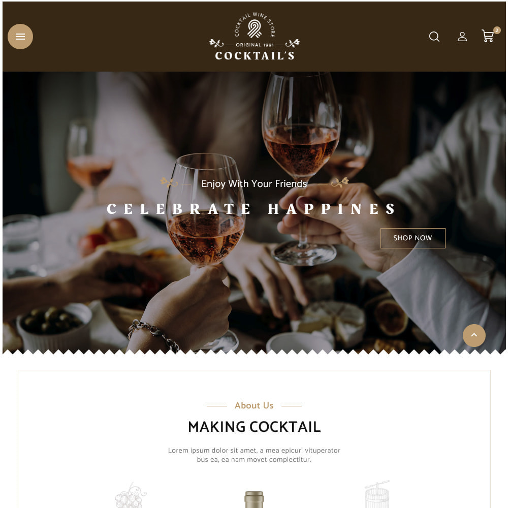 theme - Bebidas y Tabaco - Cocktail - Wine – Alcohol Cigarettes Drink Store - 15