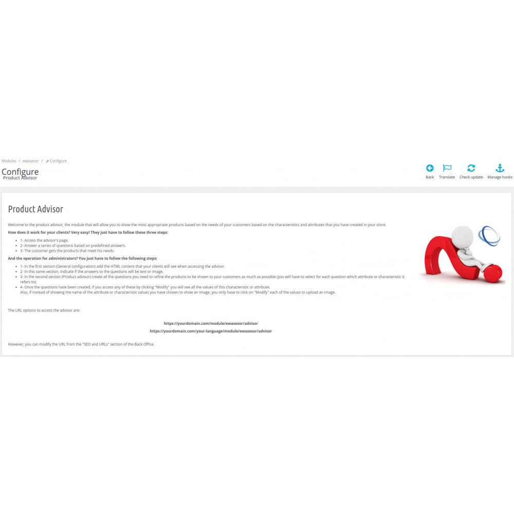 module - Vendas cruzadas & Pacotes de produtos - Products advisor - 2