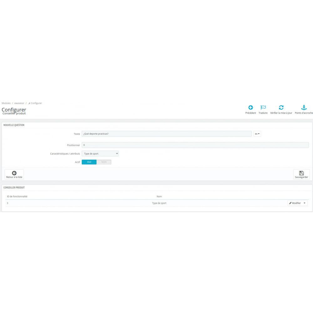 module - Ventes croisées & Packs de produits - Conseiller produit - 4
