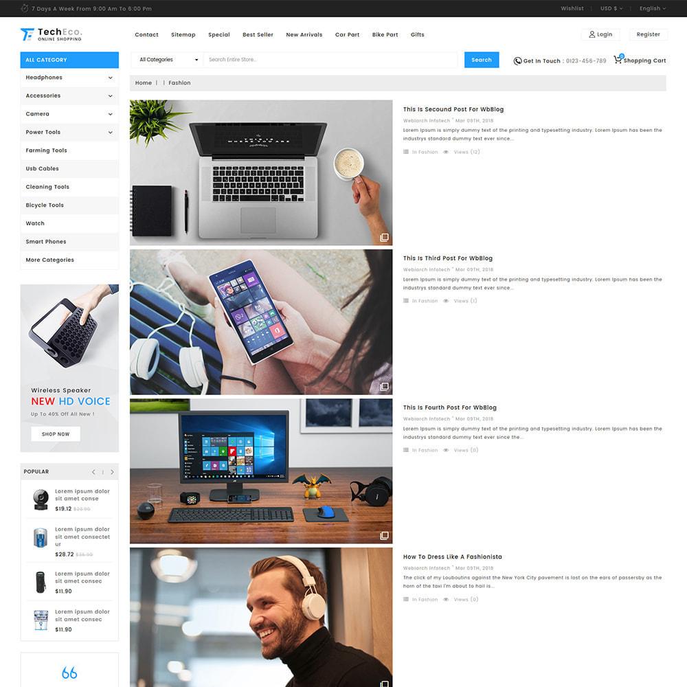 theme - Elettronica & High Tech - TechEco  - The Online Shopping - 13