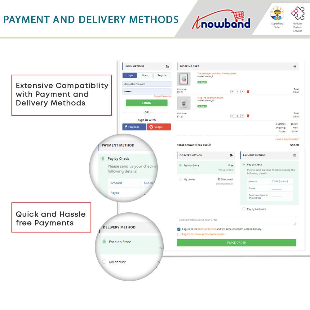 module - Bestelproces - One Page Checkout, Social Login & Mailchimp - 10