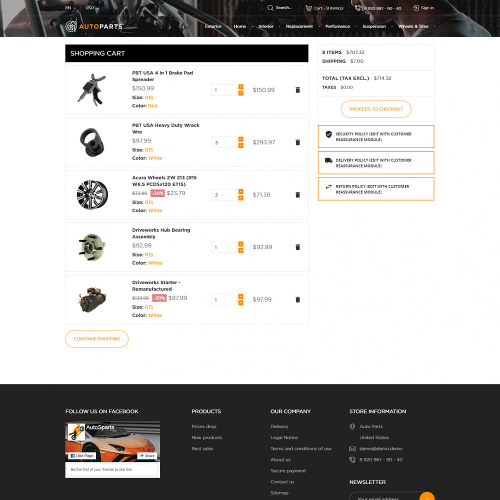 theme - Coches y Motos - Tienda De Autopartes - 7