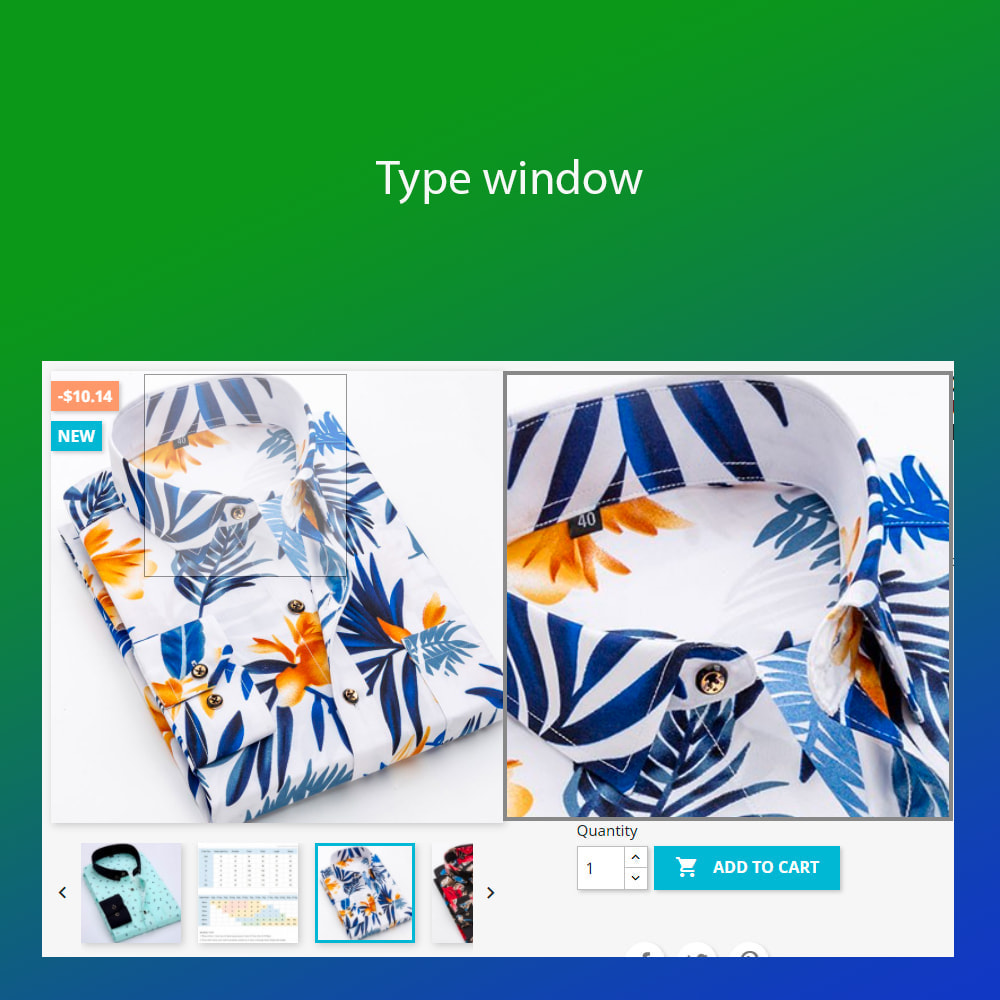 module - Visual Products - Advanced zoom image : window, inner, lens - 2