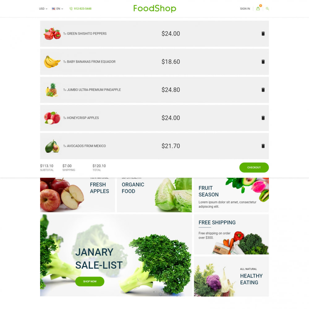 theme - Gastronomía y Restauración - Organic Garden - Food Store - 10