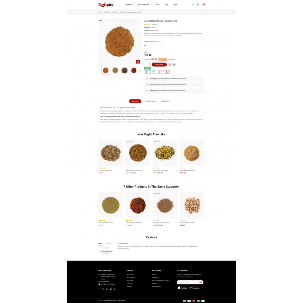 theme - Food & Restaurant - Royspice  - Online Spice Store - 5