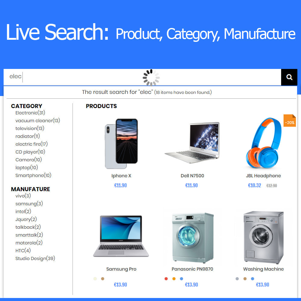 module - Wyszukiwanie & Filtry - Live Search Auto Complete - 1