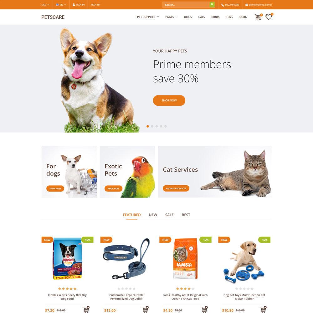 theme - Animales y Mascotas - PetsCare - Tienda de Mascotas - 1