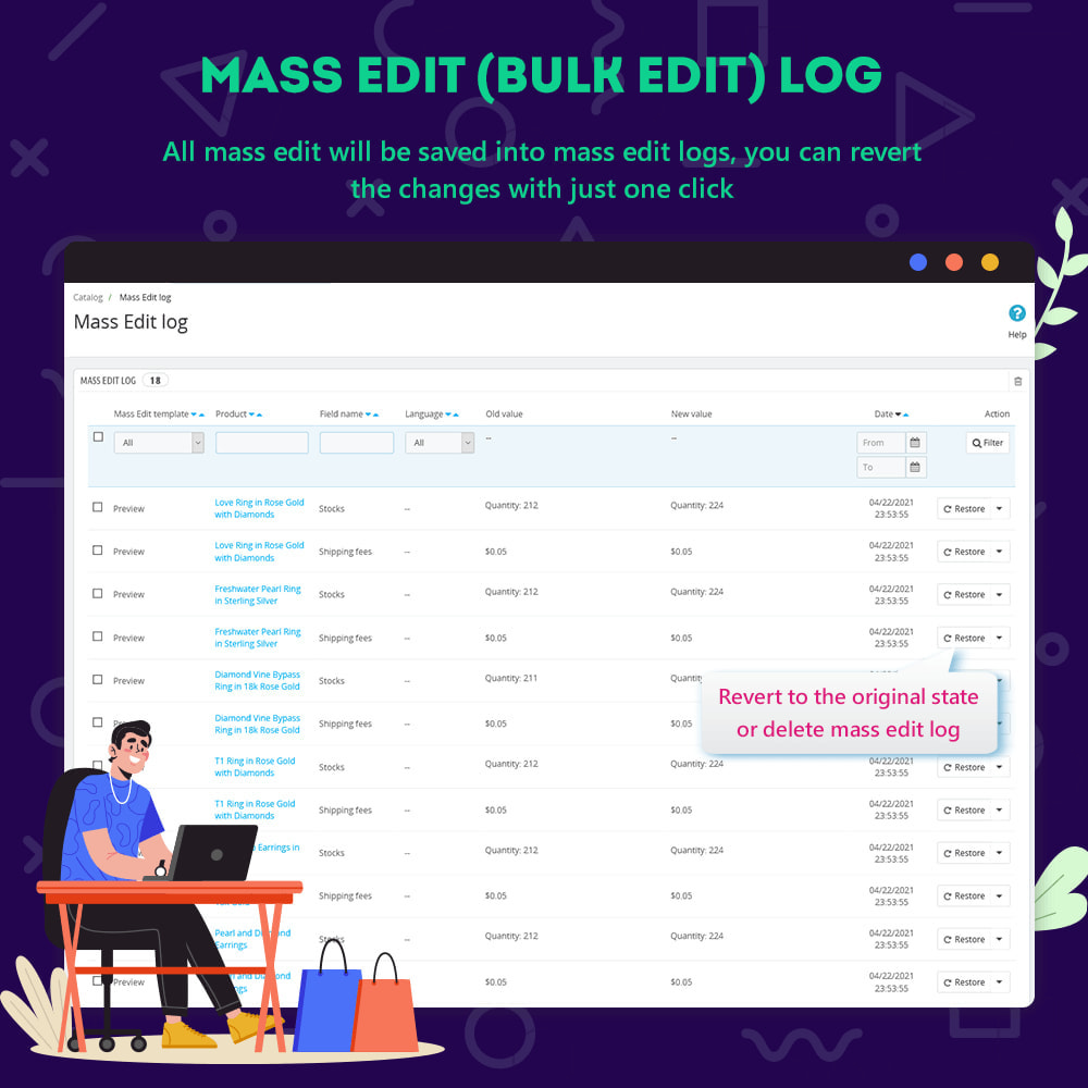 module - Fast & Mass Update - Product Manager – Bulk edit / mass edit / quick edit - 5