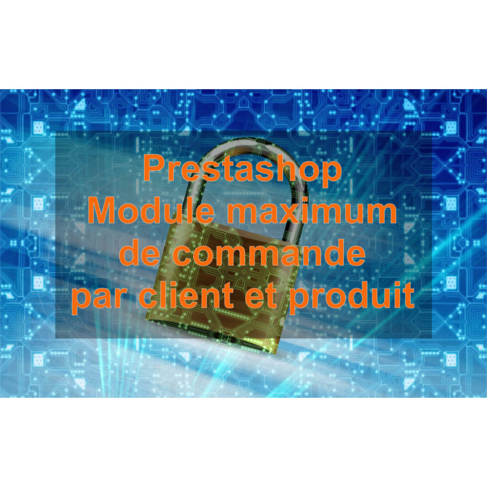 module - Registration & Ordering Process - Max product order - 1