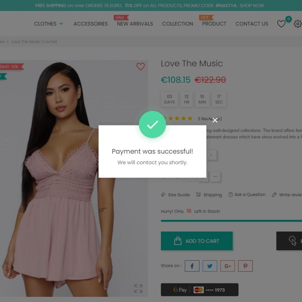 module - Оплата банковской картой или с помощью электронного кошелька - Google Pay - 1 Click Checkout - 4