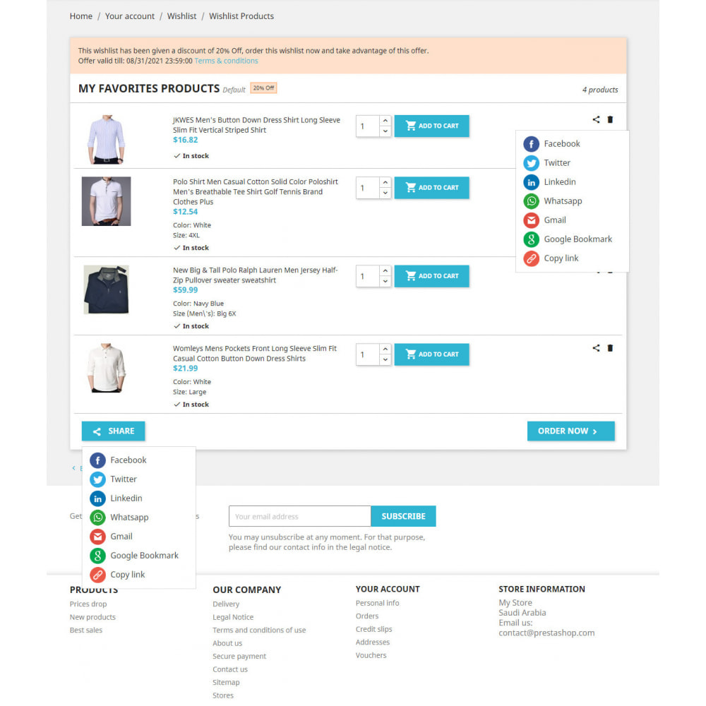 module - Wishlist & Gift Card - Advanced Multi Wishlist with Discounts and Notification - 2