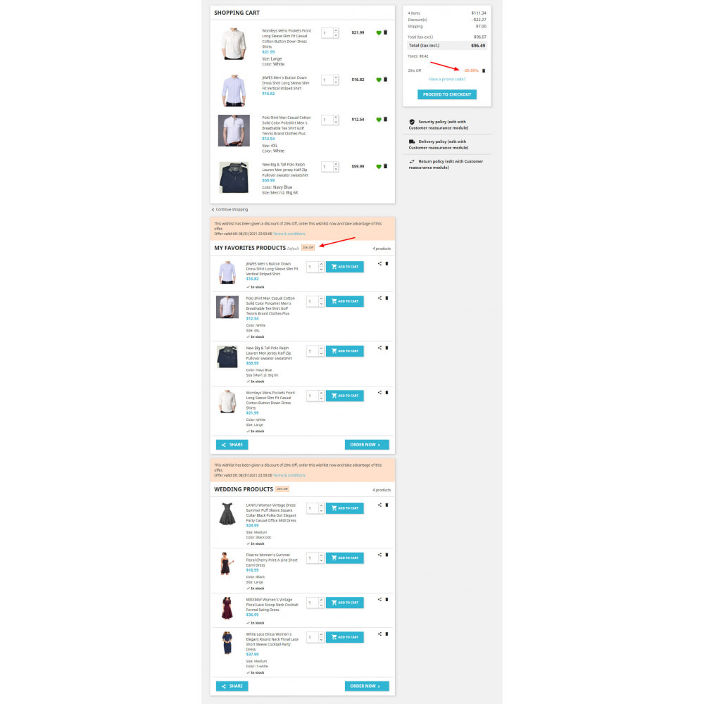 module - Wishlist & Gift Card - Advanced Multi Wishlist with Discounts and Notification - 5