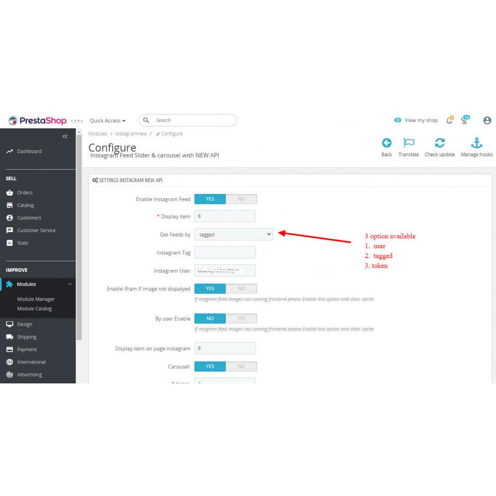 module - Sociale Widgets - Instagram Feed Slider & Carousel with NEW API - 2