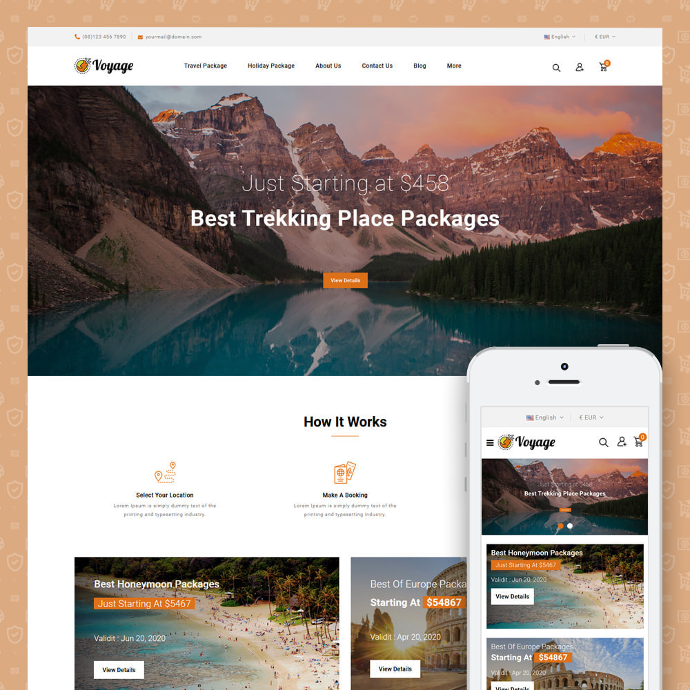 theme - Sports, Activities & Travel - Voyage - Travels Store - 1