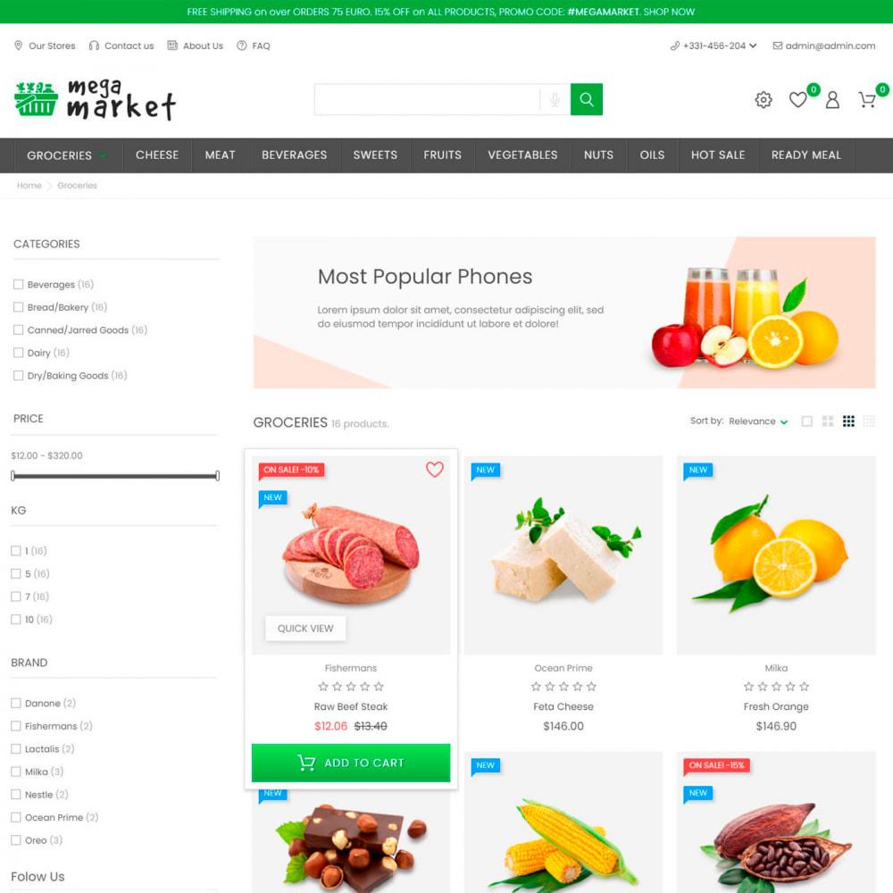 theme - Alimentation & Restauration - Mega Market Store - Food & Restaurant, Supermarket - 4