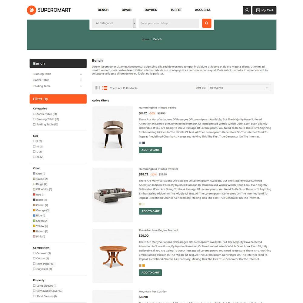 theme - Home & Garden - Interior Furniture - Sofa Chair Table Store - 4