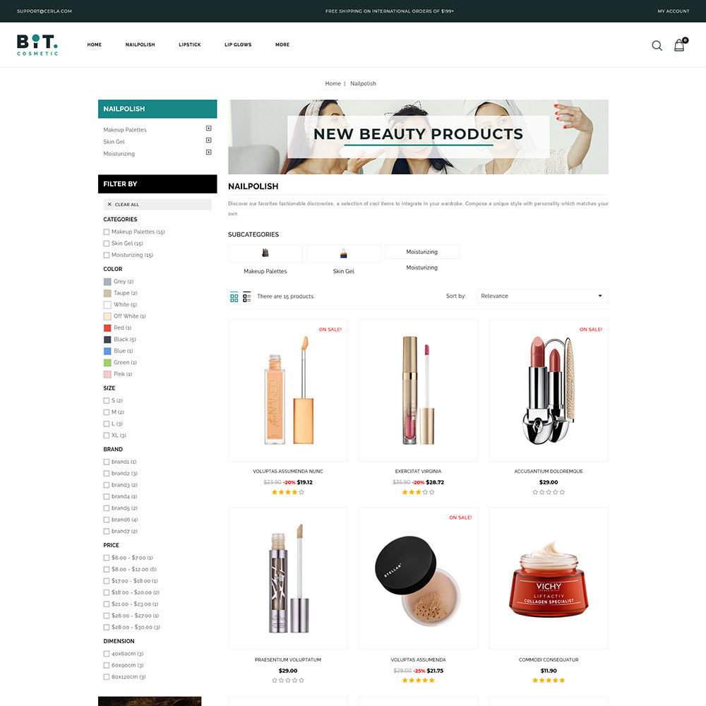 theme - Health & Beauty - Bitcosmetic - Cosmetic Store - 3