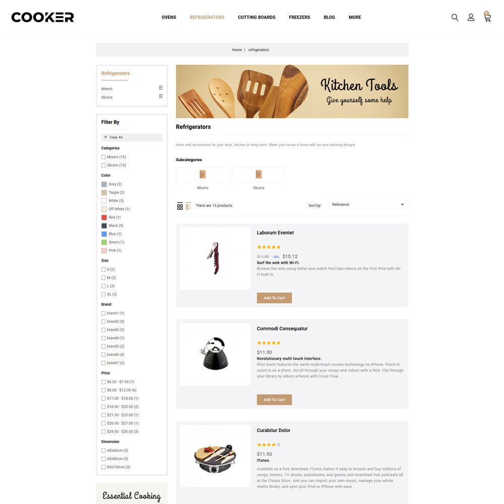 theme - Food & Restaurant - Cooker - Kitchen Store - 5