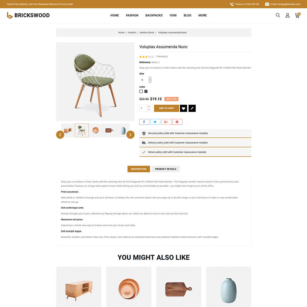 theme - Gifts, Flowers & Celebrations - Brickswood - Firniture Store - 8
