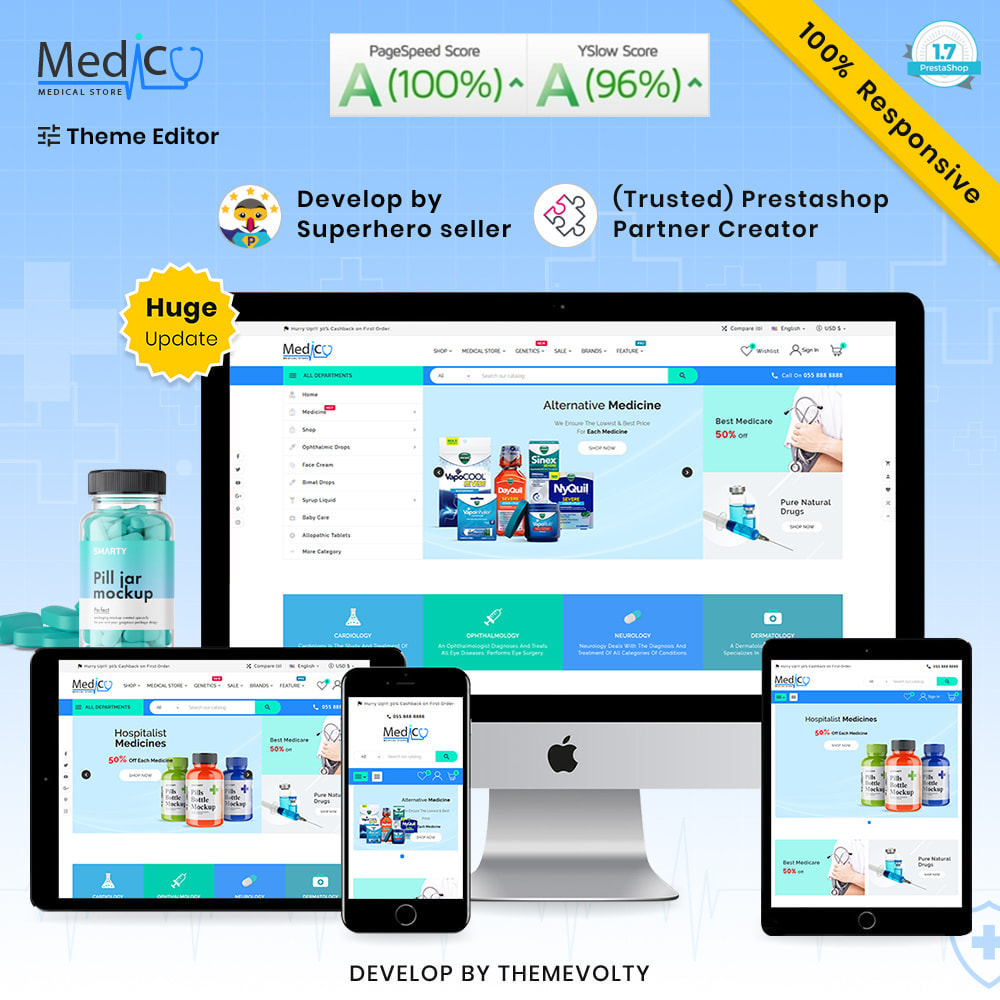 theme - Gezondheid & Schoonheid - Medico Mega Medicine–Drug Pharmacy–Medical Super Store - 1