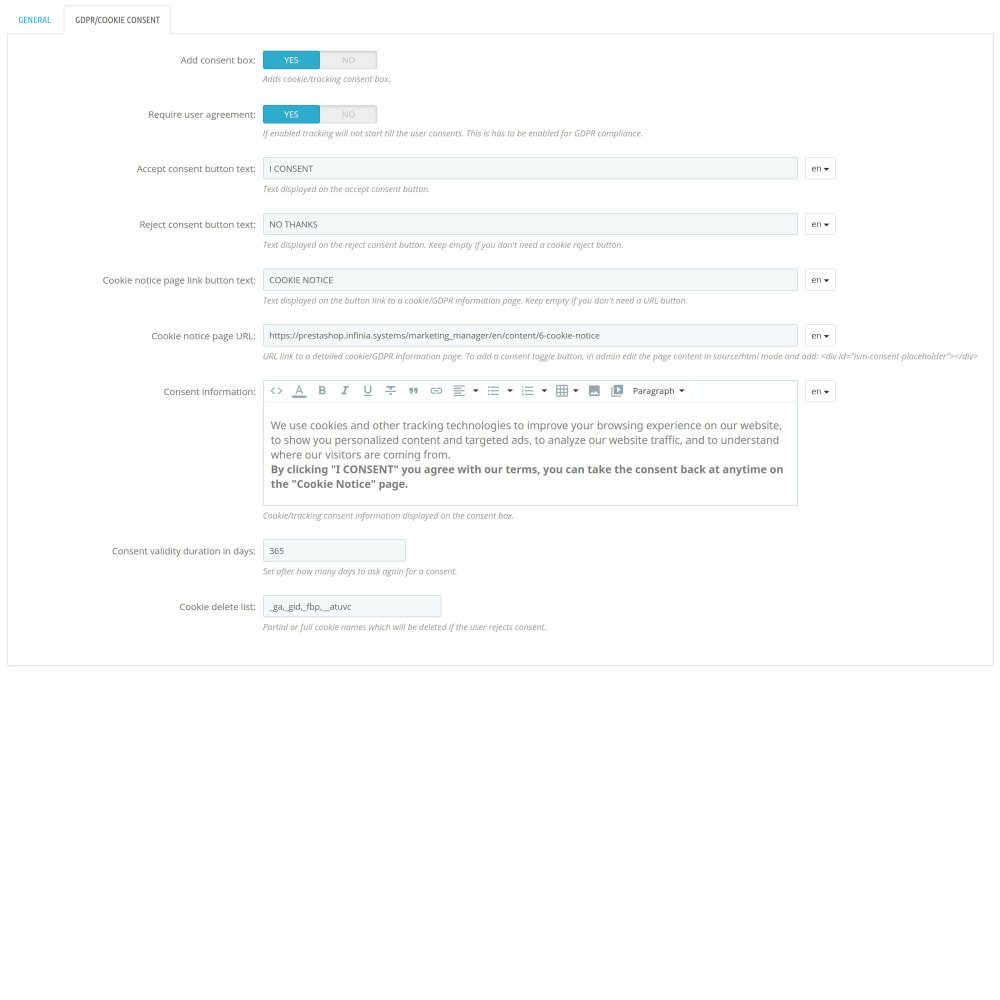 module - Статистика и анализ - Google Marketing Tags (GA4, API, GDPR...) - 3