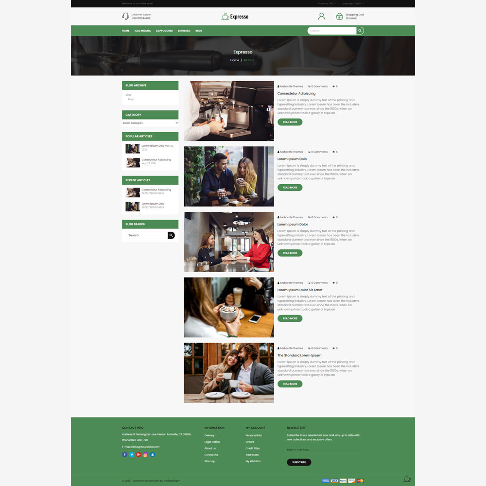 theme - Food & Restaurant - Expresso Coffee Store - 5