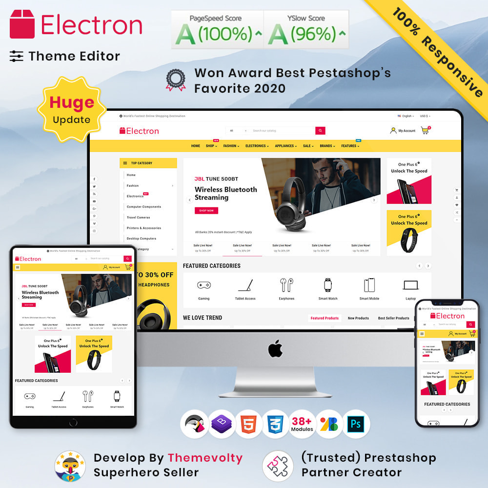 theme - Electrónica e High Tech - Electros High–Tech Gadgets–Electronics Mega Store - 1