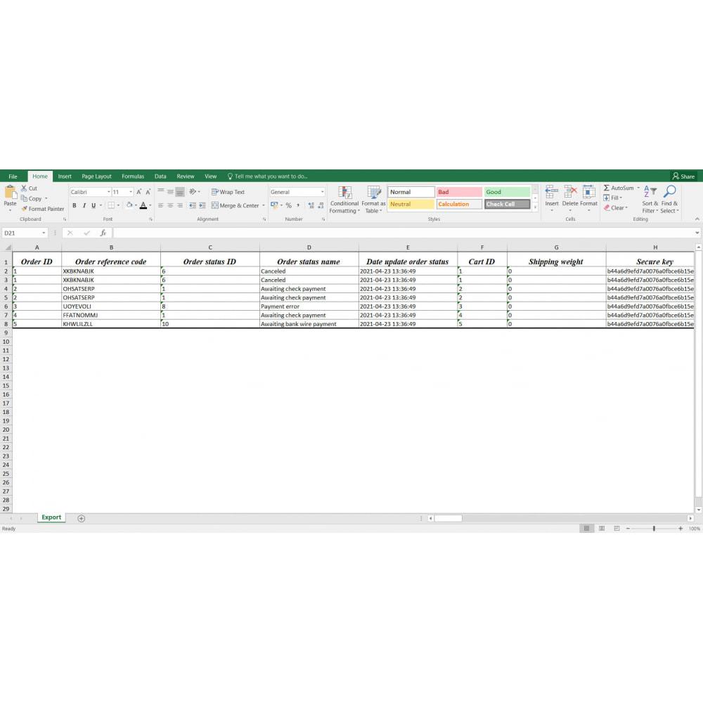module - Importación y Exportación de datos - Orders Export Pro (Excel,CSV) - 6