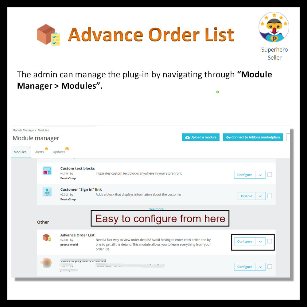 module - Order Management - Advance order list-configurable/ fast view - 3
