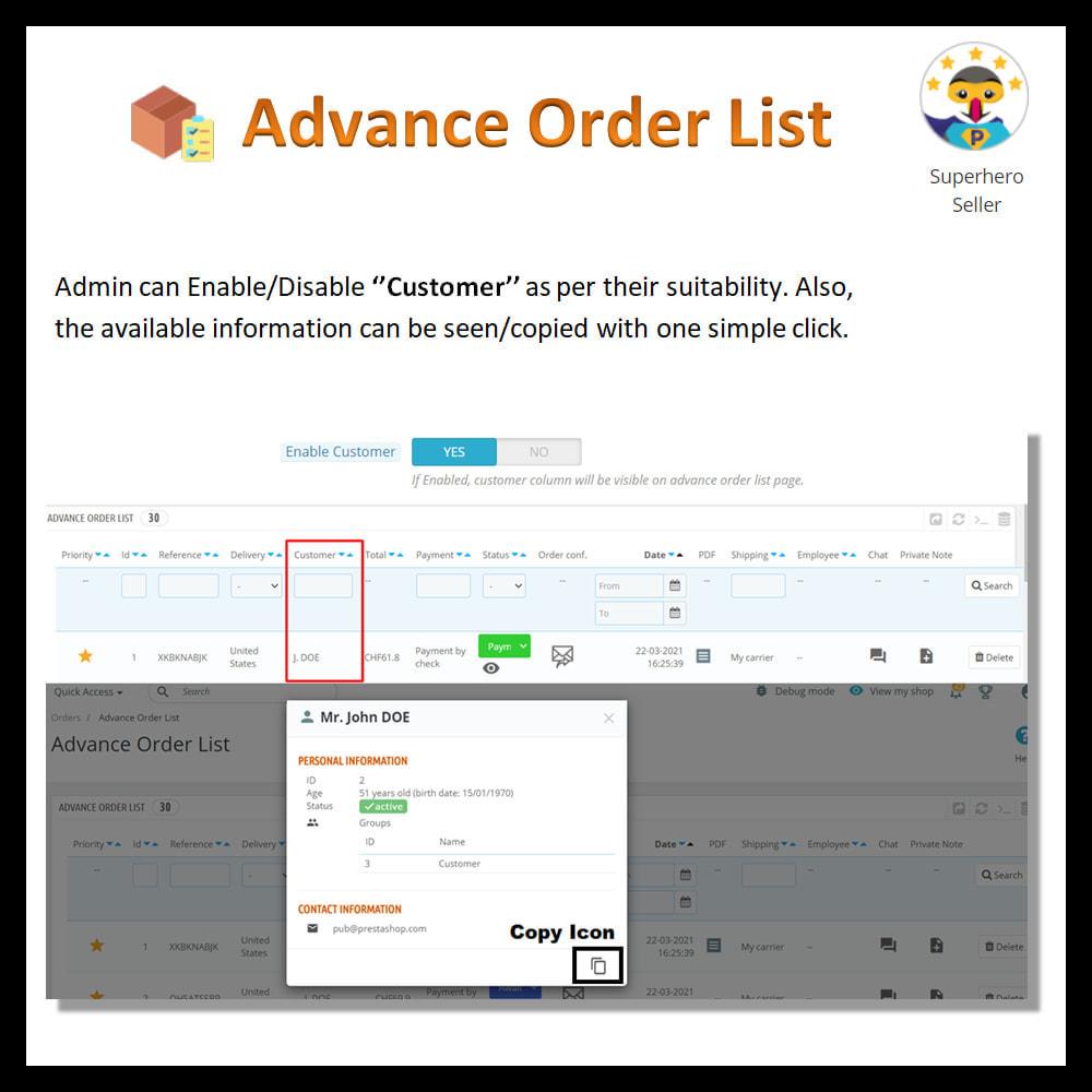 module - Order Management - Advance order list-configurable/ fast view - 7