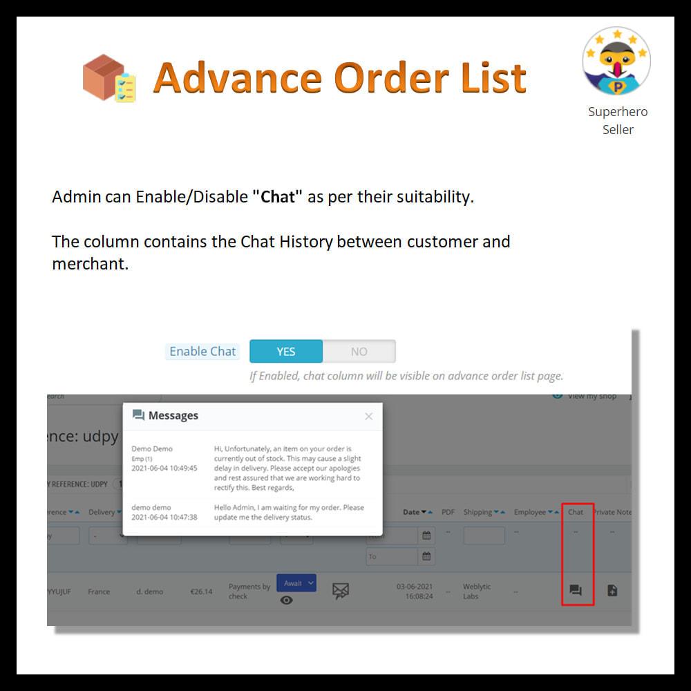 module - Order Management - Advance order list-configurable/ fast view - 15