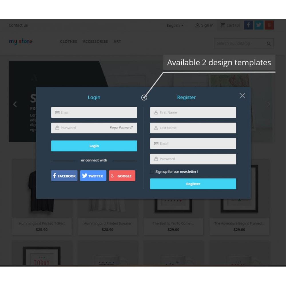 module - Módulos de Botões de Login & Connect - Popups Pack (10 in 1) And Social Connect - 4