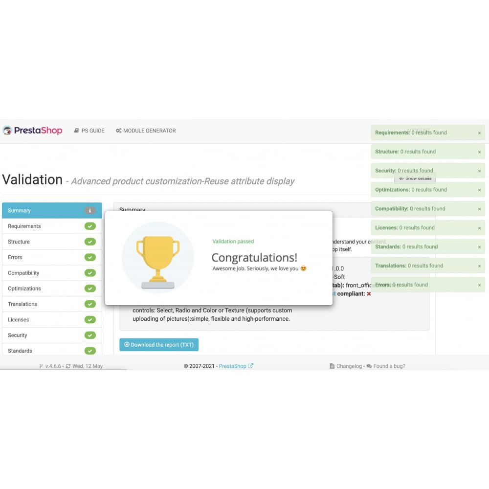 module - Combinazioni & Personalizzazione Prodotti - Advanced product customization-Reuse attribute display - 14
