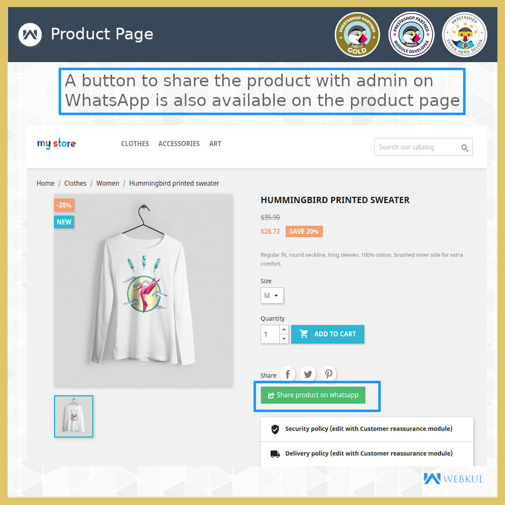 module - Support & Online Chat - Buy Products via WhatsApp - 4