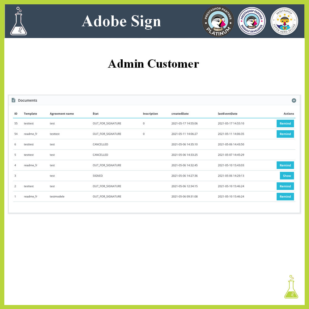 module - Administrative Tools - Adobe Sign: Electronic signatures - 5
