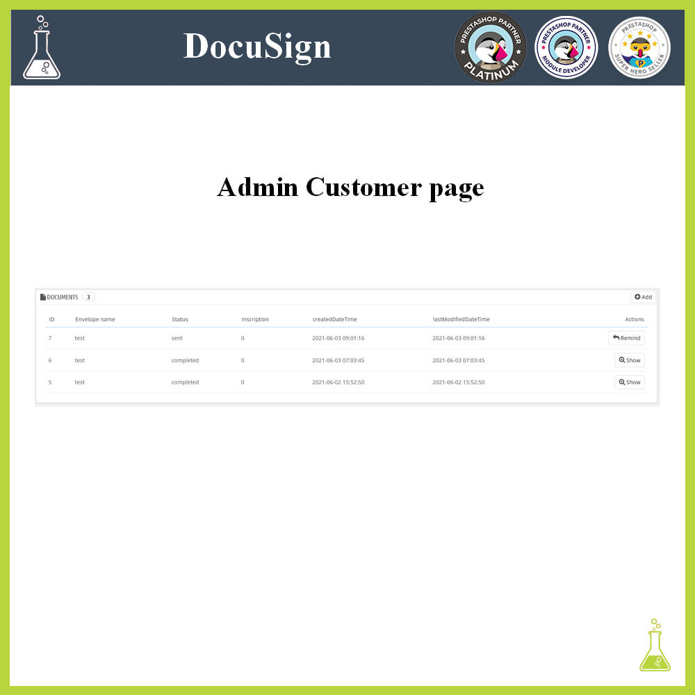 module - Accounting & Invoicing - DocuSign: Electronic signatures - 4