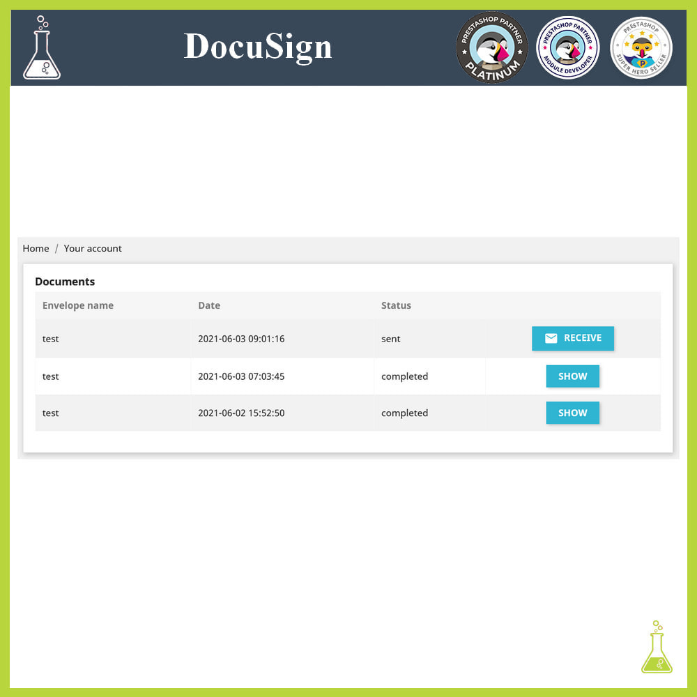 module - Accounting & Invoicing - DocuSign: Electronic signatures - 6