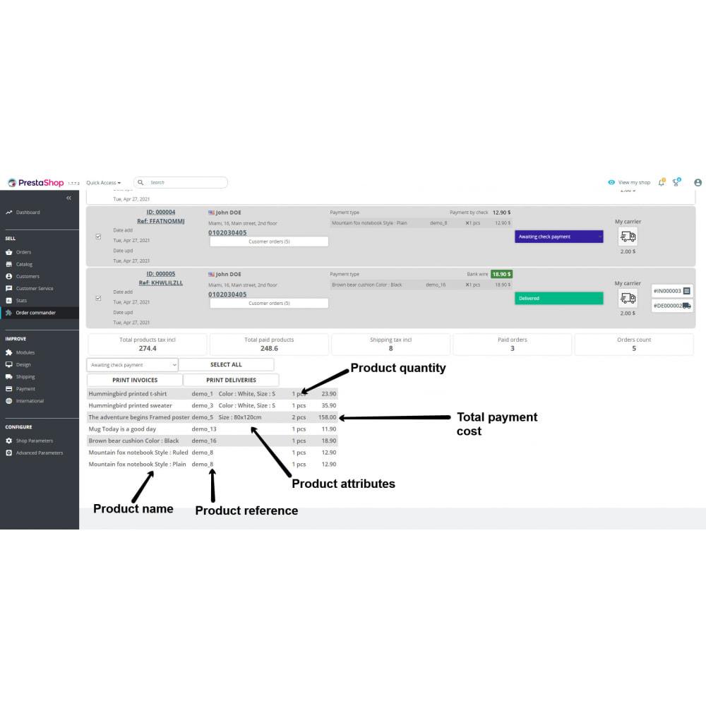 module - Order Management - Order commander - 4