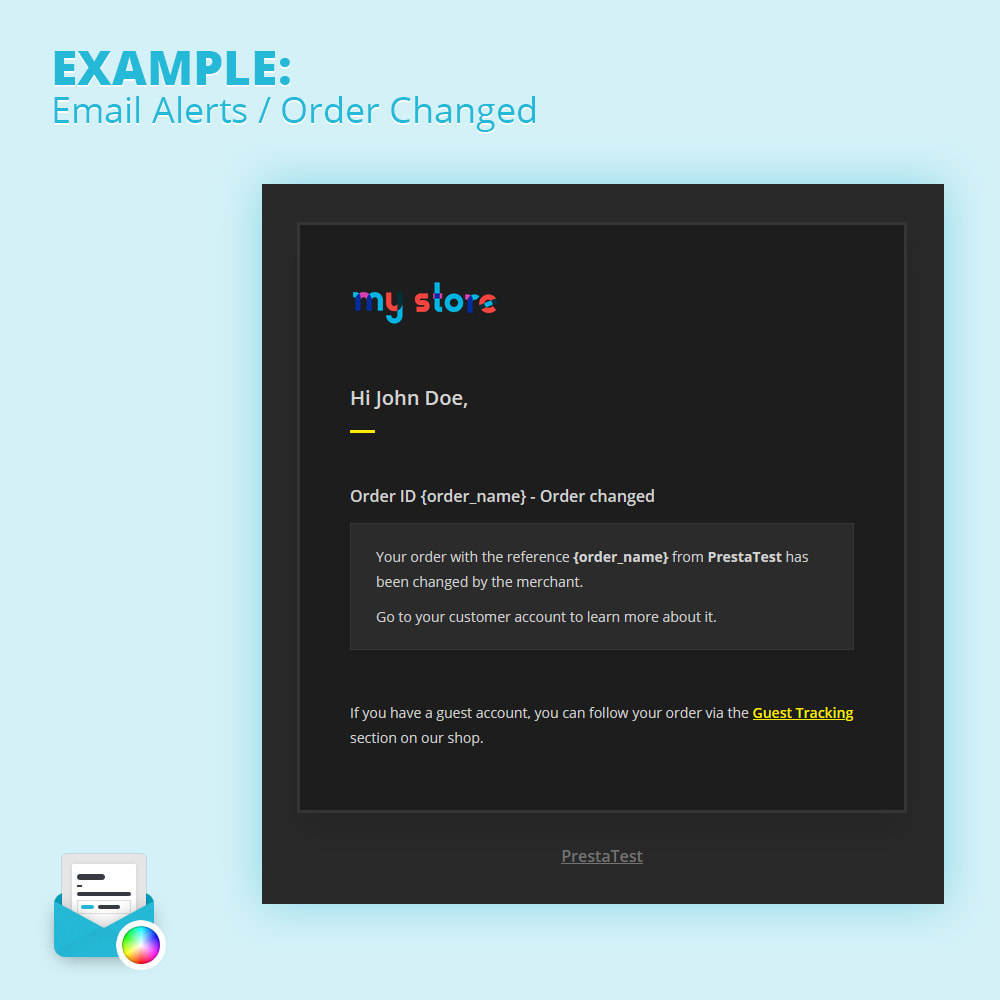 module - Notifications & Automatic Emails - Modern Mail Template Customizer - 3