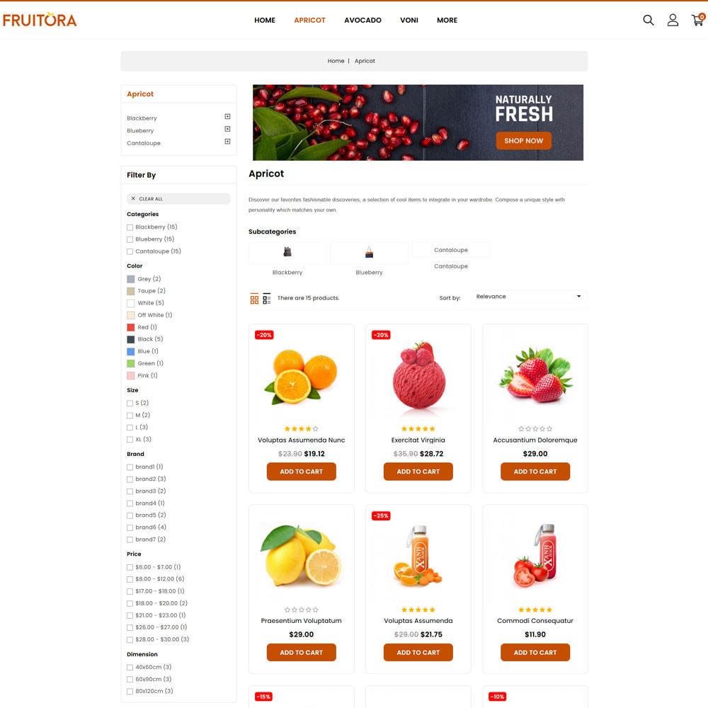 theme - Food & Restaurant - Fruitora - Fruit Shop - 2