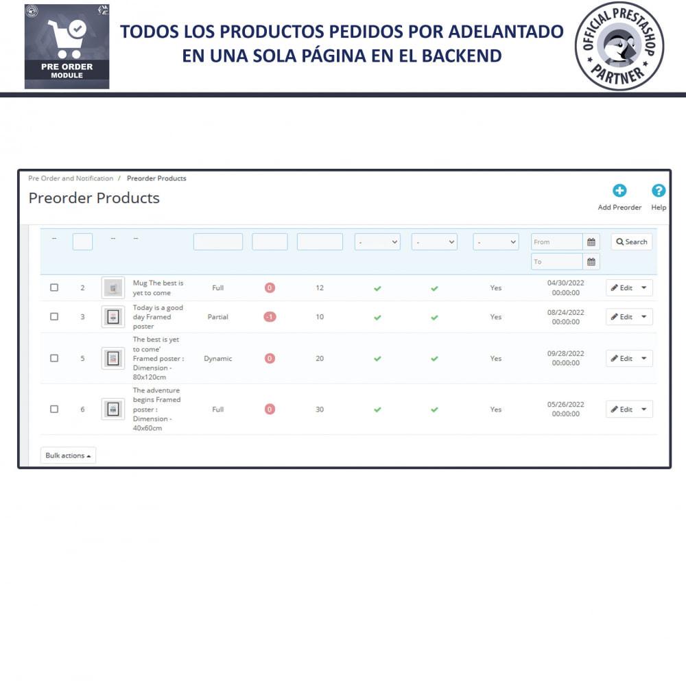 module - Inscripción y Proceso del pedido - Pre-Order - Advance Booking   Out of Stock Selling - 9