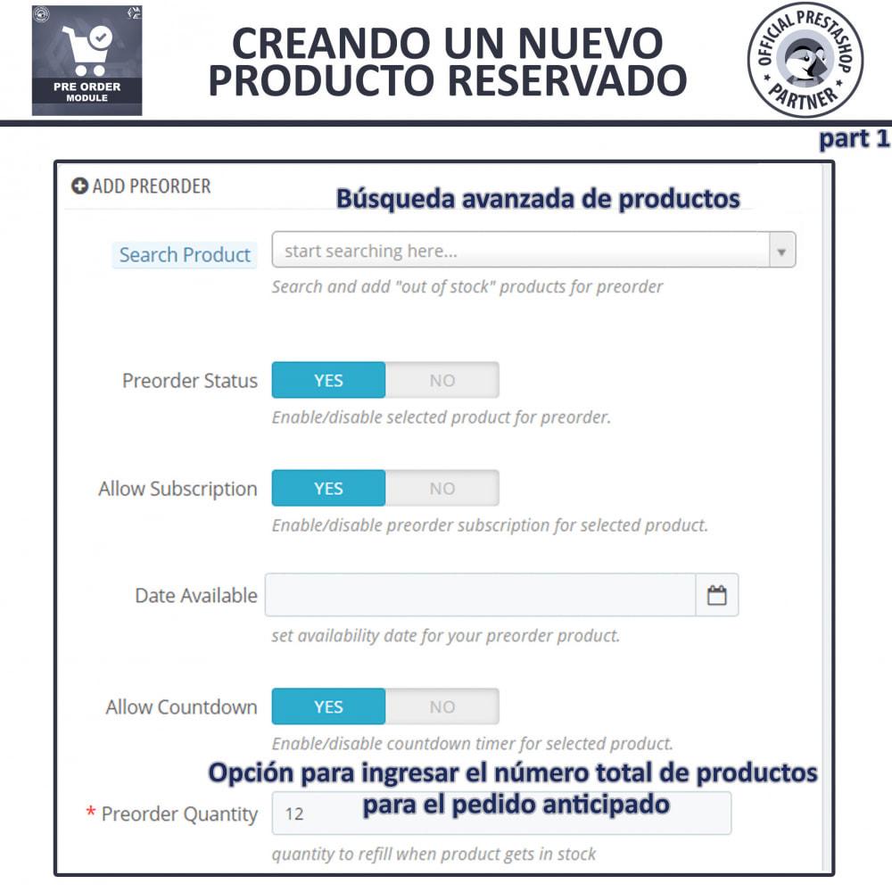 module - Inscripción y Proceso del pedido - Pre-Order - Advance Booking   Out of Stock Selling - 10