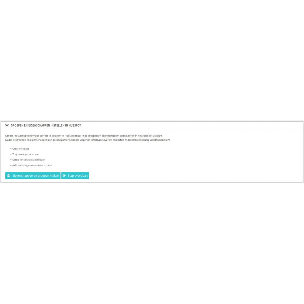 module - Remarketing & Achtergelaten winkelmanden - HubSpot e-handelsintegration - 5