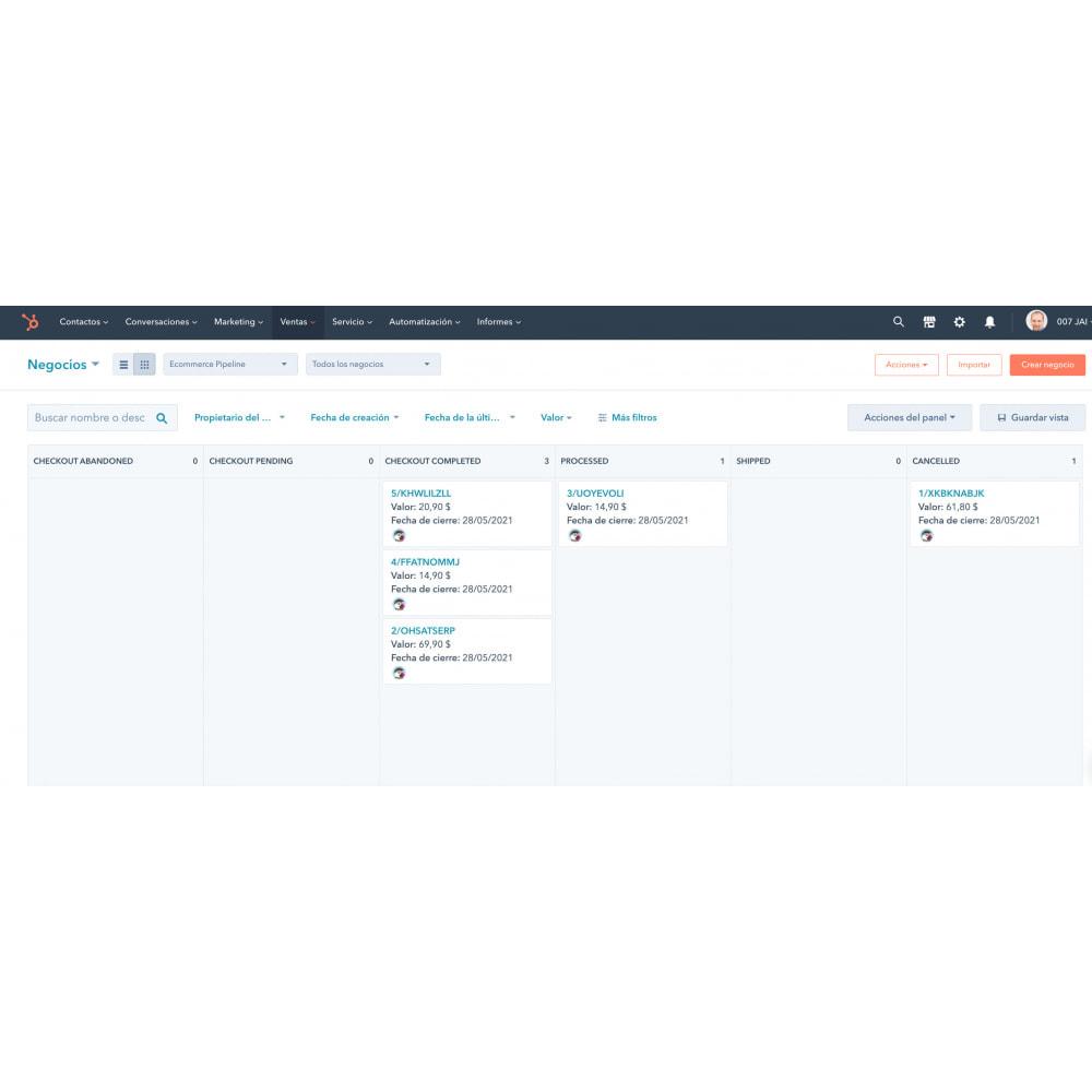 module - Remarketing & Compras abandonados - Integração de comércio eletrônico HubSpot - 2