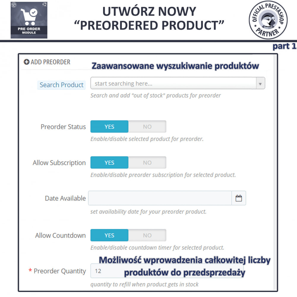 module - Procedury składania zamówień - Pre-Order - Advance Booking   Out of Stock Selling - 10